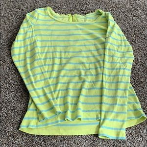 Blue and green and Taylors the back shirt